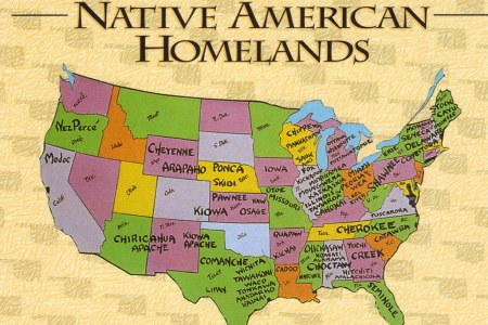 usa native american homelands map postcard | from their