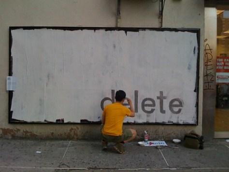 Delete billboard by Ji Lee