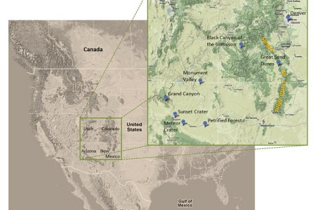 map of southwestern united states | in april 1977, i went