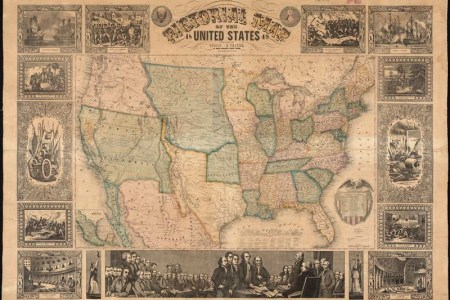 pictorial map of the united states, 1849 | zoom into this