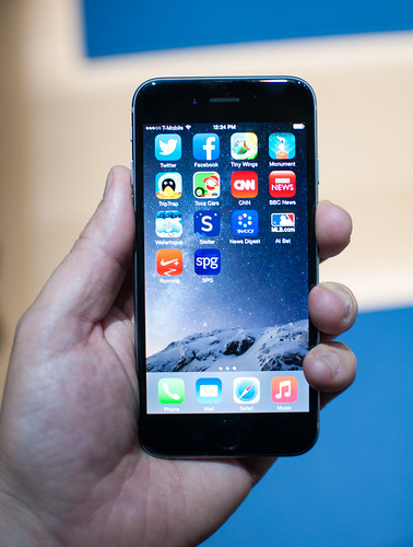 iPhone 6 in hand