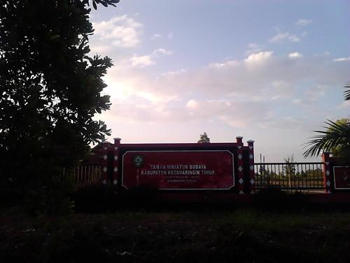 Lokasi Taman Miniatur Budaya Kotawaringin Timur tampak depan