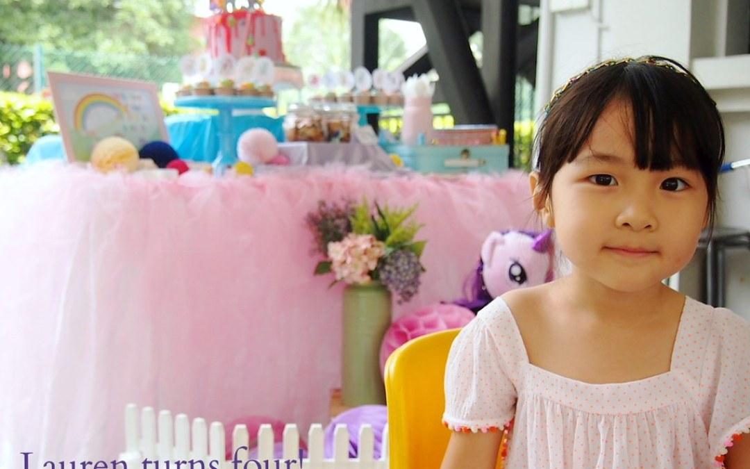 Lauren's My Little Pony Fourth Birthday