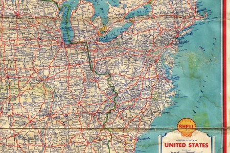 1934 s road map | this eastern united states highway