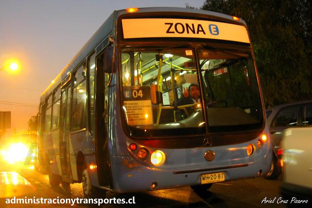 Transantiago E04   Unitran   Metalpar Tronador - Mercedes Benz / WH2087