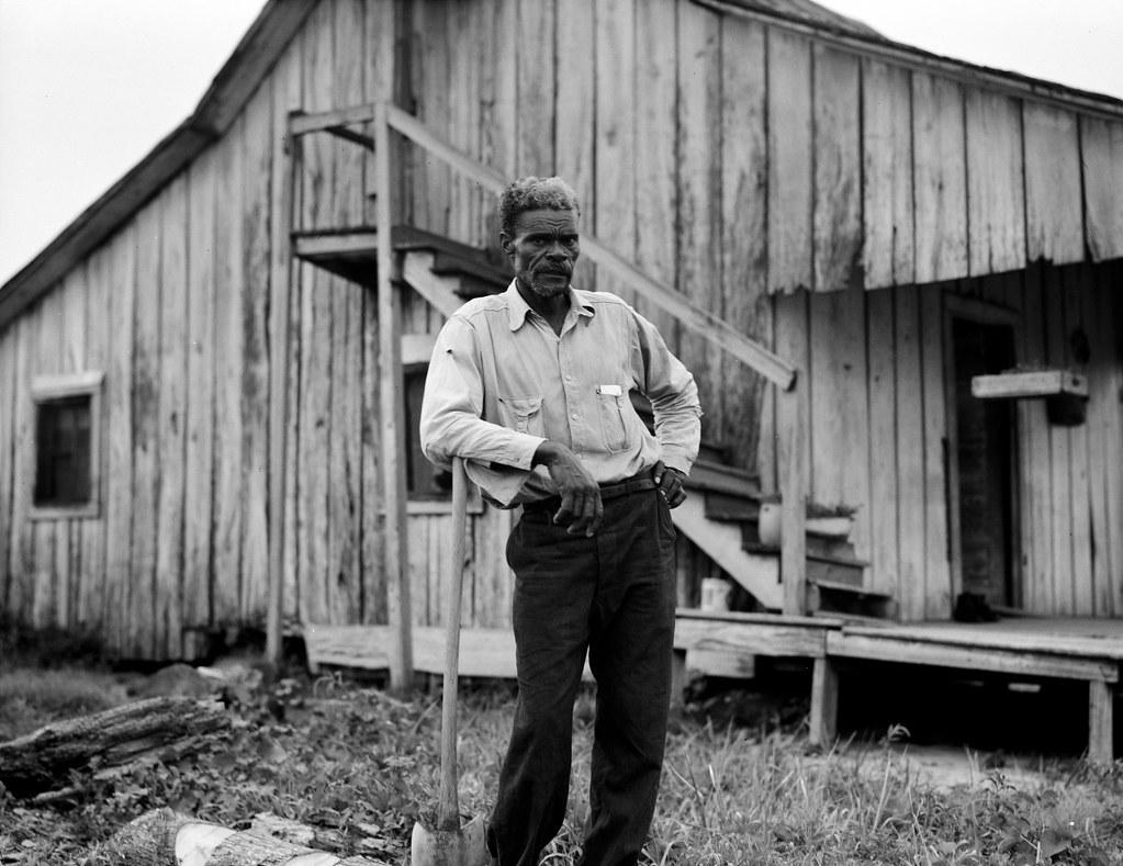 Lange, Dorothea, photographer. Cotton worker in Sunday clothes. Near Blytheville, Arkansas. June, 1937.