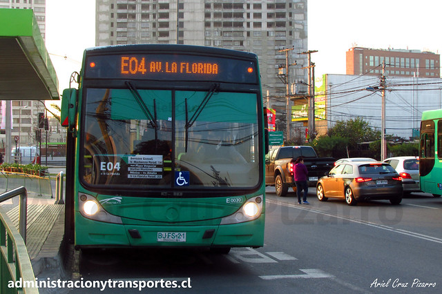 Transantiago E04   Buses Vule   Caio Mondego H - Mercedes Benz / BJFS21