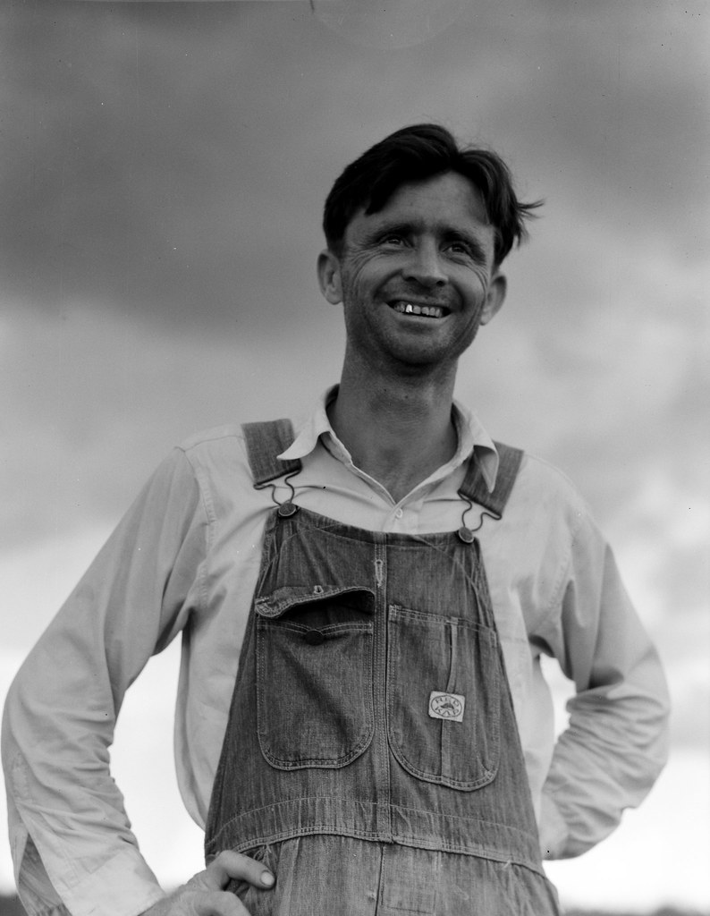 Lange, Dorothea, photographer. Man who worked in Fullerton, Louisiana lumber mill for fifteen years. He is now left stranded in the cut-over area. July, 1937.