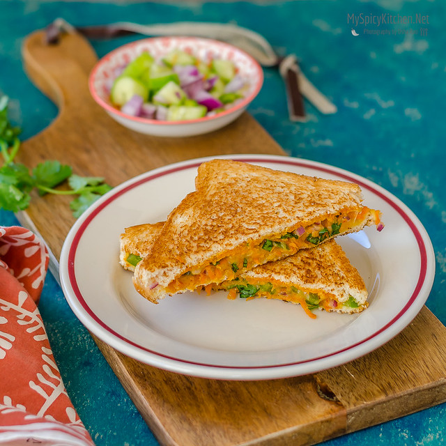 Blogging Marathon, Sandwich, Veggie Cheese Sandwich, Fusion Indo American Sandwich,  Toasted cheese Veggie Sandwich, Grilled Veggie Cheese Sandwich, Snack, Lunch,