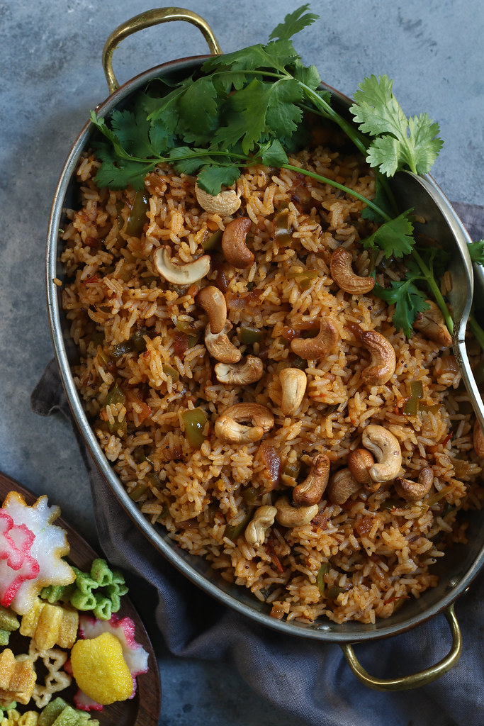 Capsicum/Green Bell Pepper Fried Rice - A Lunch Box Story/Dabbawallas |foodfashionparty| #rice
