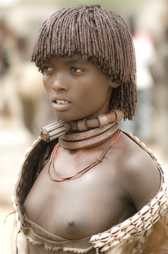 young native african women