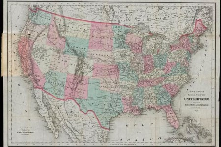 colton's general map of the united states showing the