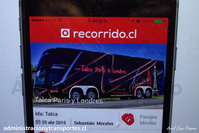 Recorrido.cl - Venta pasajes Talca París & Londres
