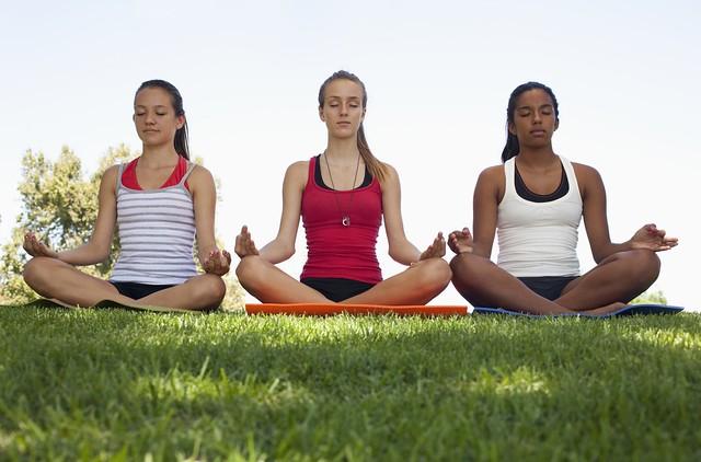 teen girls using coping skills