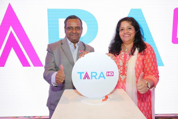 Launch of TARA HD_Dr Rajamani and Hemalatha