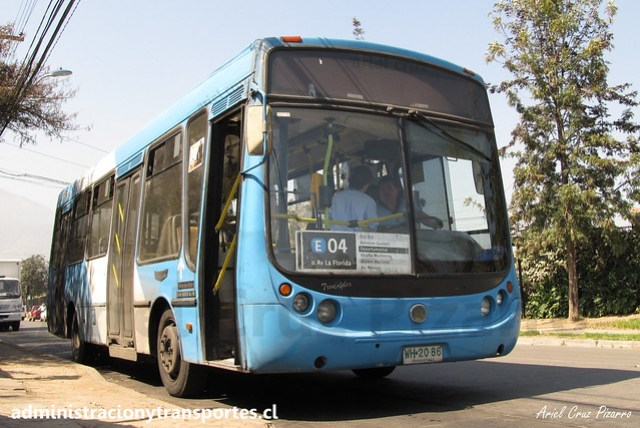 Transantiago E04   Unitran   Metalpar Tronador - Mercedes Benz / WH2086