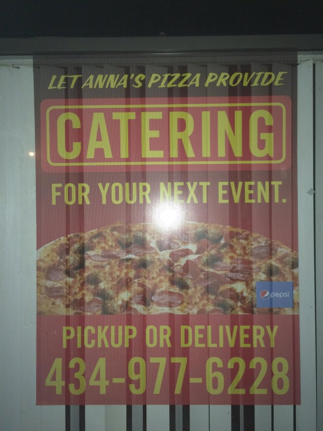 Anna's Pizza Poster