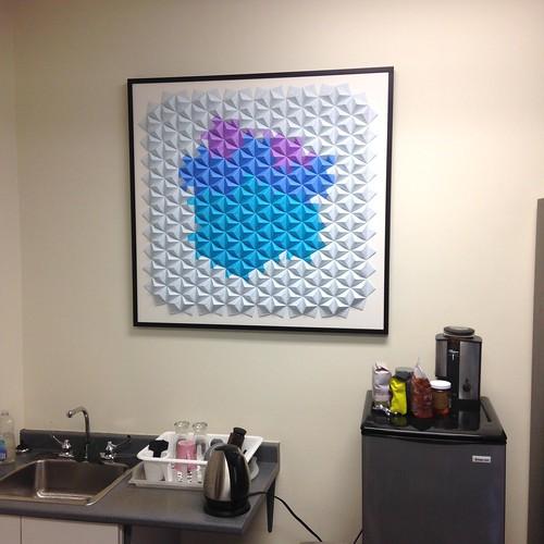 Sonobe origami office art