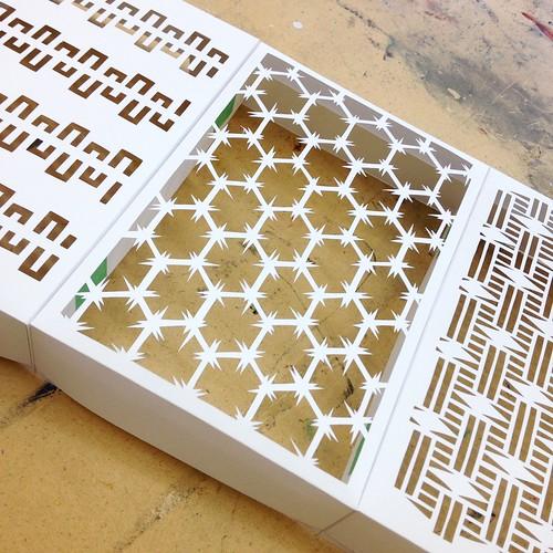 Prototype pattern paper cut installation