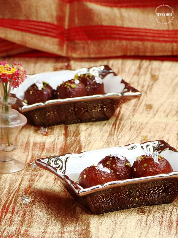 Saffron Flavoured Gulab Jamuns