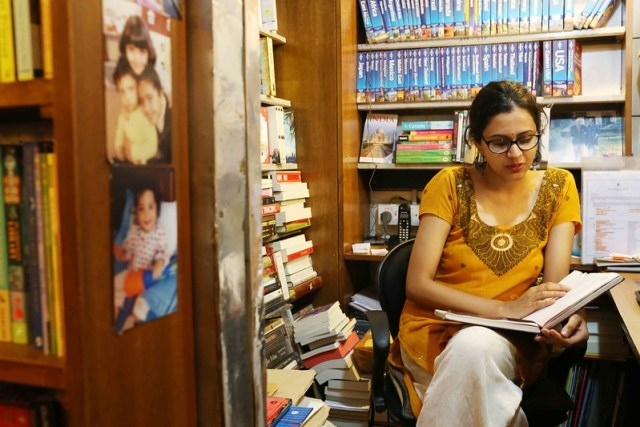 City Moment - The New Face at The Book Shop, Jorbagh Market