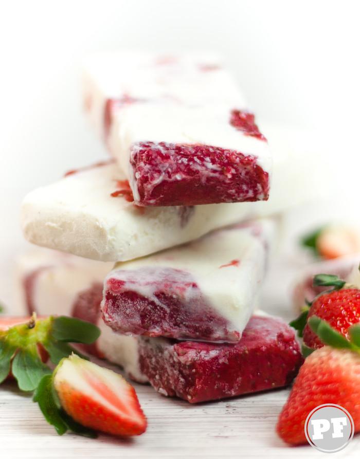 Picolé Cheesecake de Morango