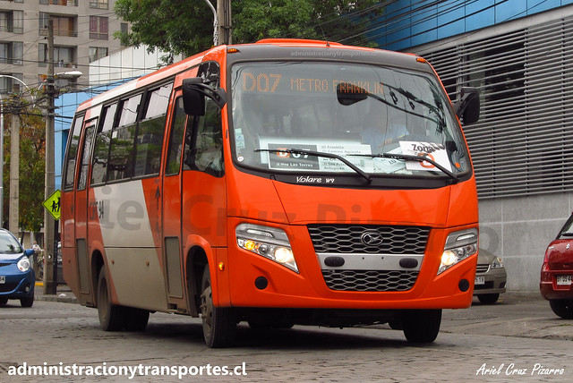 Transantiago D07 | Express | Volare W9 - Agrale / CJRT94