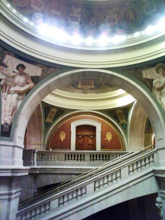 Rotunda area, Newark historic courthouse