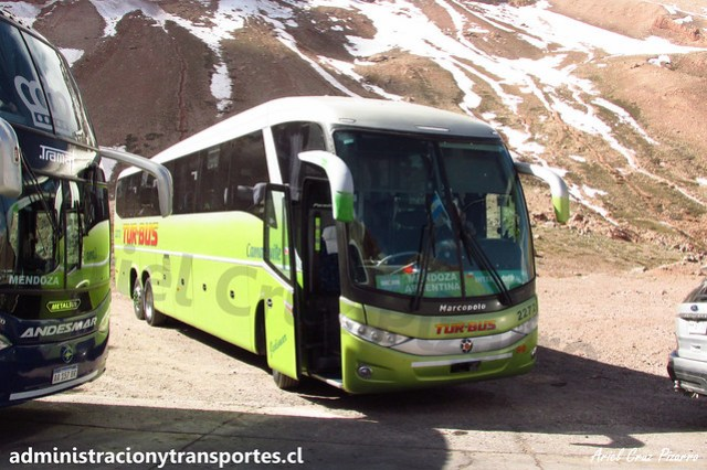 Tur Bus Internacional | Paso Los Libertadores | Marcopolo Paradiso 1200 G7 - Mercedes Benz O500RSD / CLLZ46 - 2772
