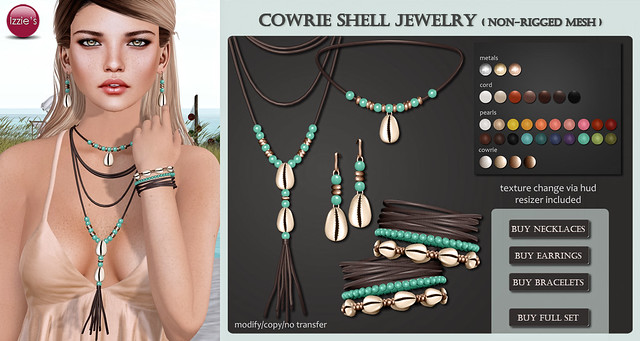 Cowrie Shell Jewelry (soon @ The Seasons Story)
