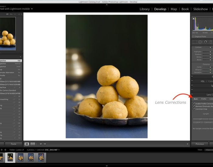 Lens Correction, Lightroom Lens Correction, Lightroom Tutorial, Lightroom Food Tutorial, How to edit food photos in Lightroom, Lightroom Tutorial for Food photos, Lightroom tutorial, Editing RAW files in Lightroom,