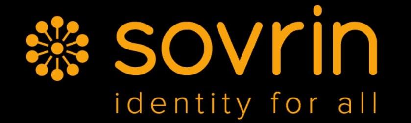 sovrin logo on black background