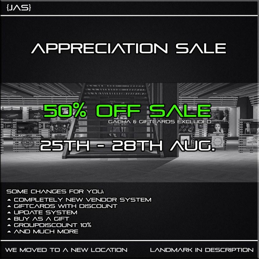 {JAS} Appreciation Sale
