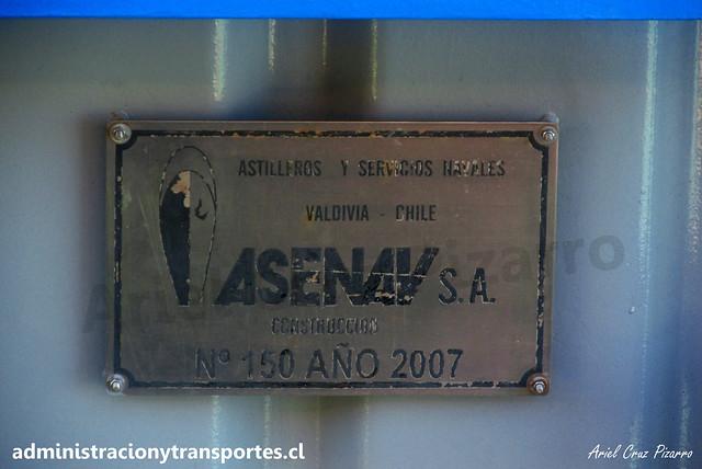 Placa ASENAV - Naviera Cruz del Sur