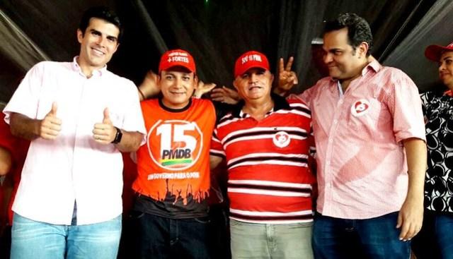 Ministro participa de carreata e comício do PMDB em Terra Santa, helder em TSanta
