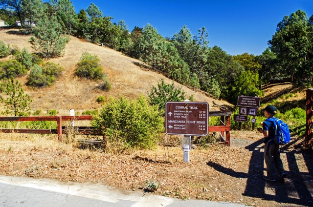 The Corral Trail begins across the road from the Coe Ranch Visitor Center.