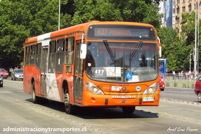 Transantiago 427   Express   Marcopolo Gran Viale 13.2 - Volvo / FLXJ77