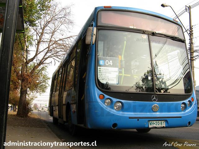 Transantiago E04   Unitran   Metalpar Tronador - Mercedes Benz / WH2081