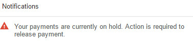 Adsense payment on hold notif