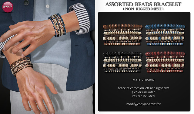 Assorted Beads Bracelet (male) for FLF