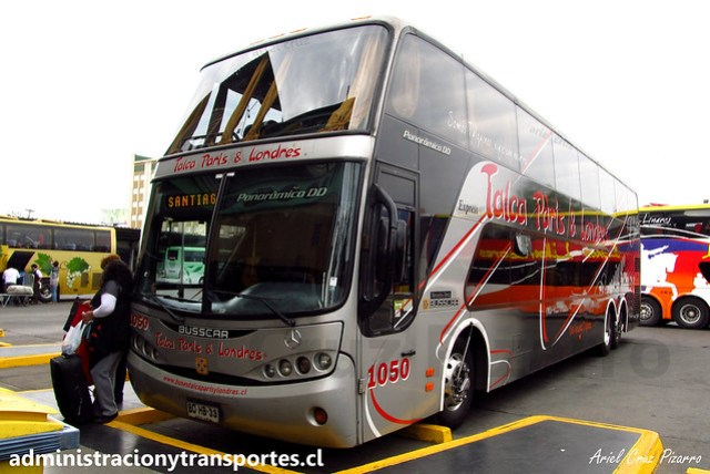 Talca París & Londres | Santiago | Busscar Panorâmico DD - Mercedes Benz / BDHB33 - 1050 (Año 2012)