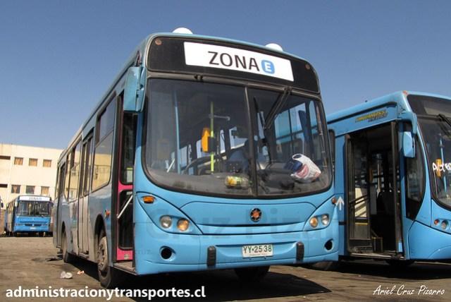Transantiago E04   Unitran   Marcopolo Gran Viale - Mercedes Benz / YY2538