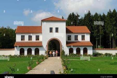 germany europe saarland perl borg roman villa borg entrance building bwn9w0
