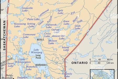 Map Pf Manitoba - Map of manitoba