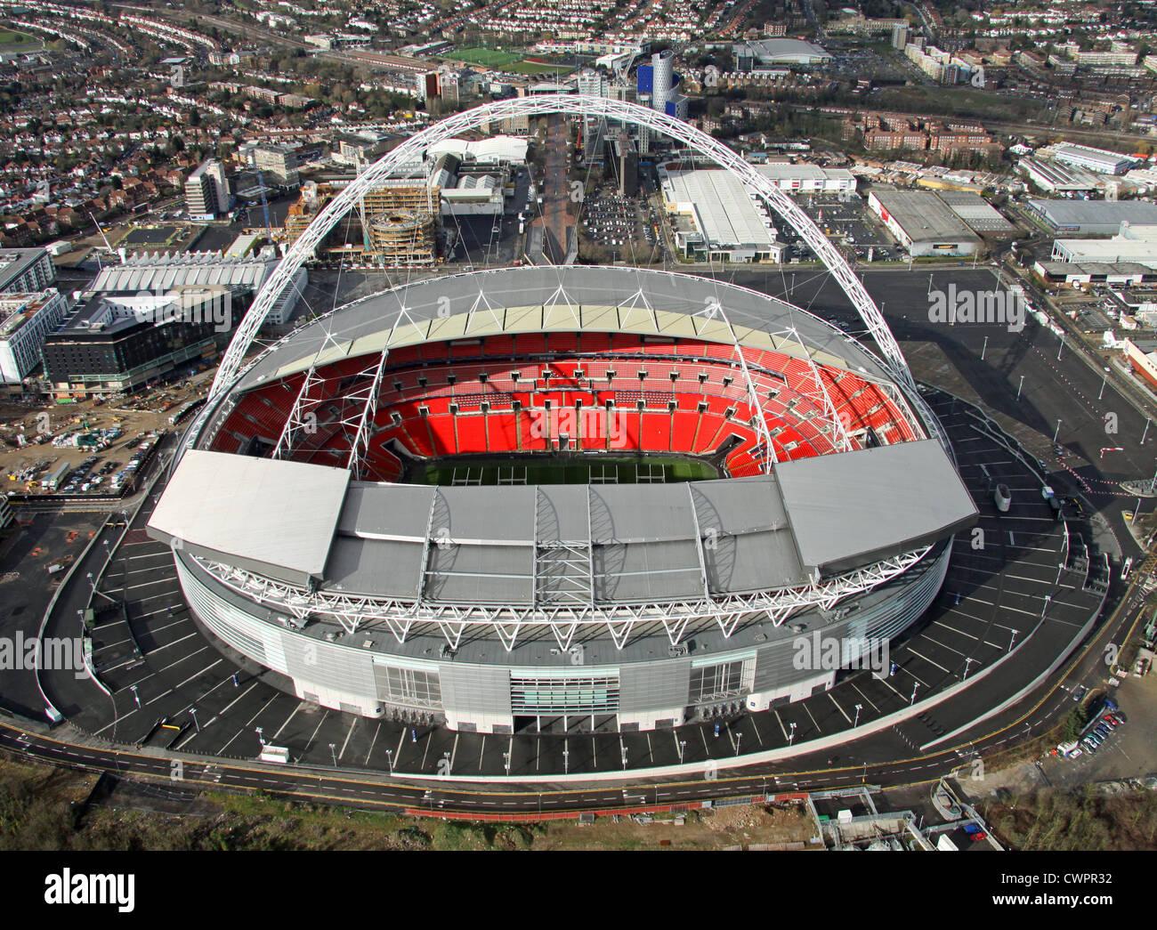 aerial view of wembley stadium london stock image