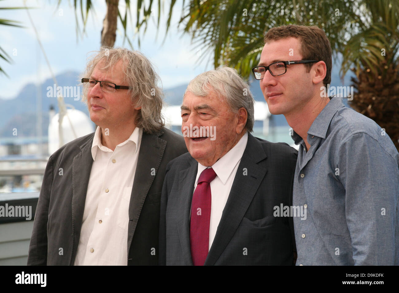 Producer Danny Krausz  Director Claude Lanzmann and producer David     Producer Danny Krausz  Director Claude Lanzmann and producer David Frenkel  at the Le Dernier Des Injustes film photocall