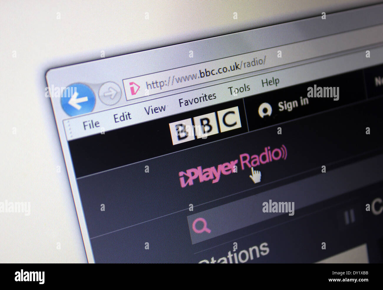Iplayer Stock Photos   Iplayer Stock Images   Alamy BBC iPlayer website   Stock Image