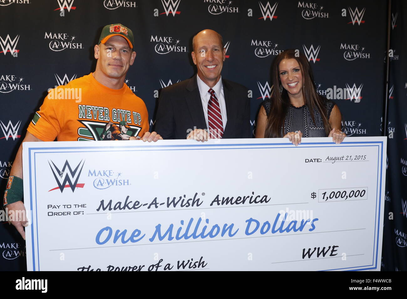 Make A Wish Foundation celebrates WWE superstar John Cena s 500th     Make A Wish Foundation celebrates WWE superstar John Cena s 500th granted  wish at Dave   Busters Times Square  WWE also presented the foundation with  a