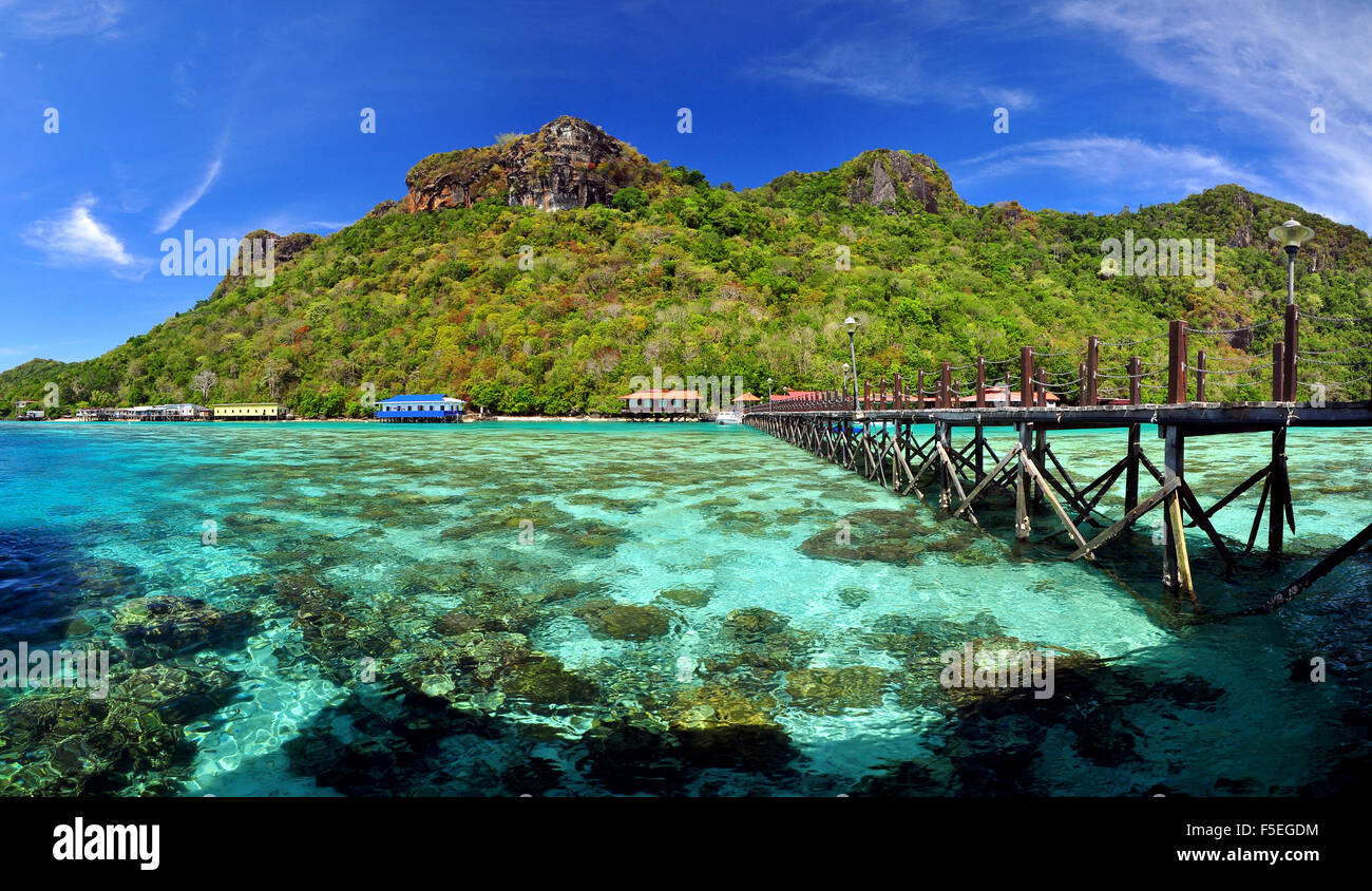 Island Of Borneo Stock Photos   Island Of Borneo Stock Images   Alamy Bohey Dulang Island  Semporna  Borneo  Malaysia   Stock Image
