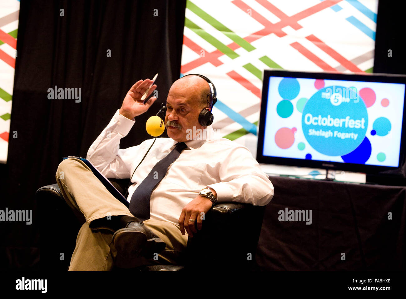 BBC Radio 5 Live Octoberfest in Sheffield Friday John Pienaar Stock     BBC Radio 5 Live Octoberfest in Sheffield Friday John Pienaar